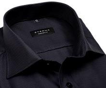 Eterna Comfort Fit Twill – luxusná antracitová košeľa s votkaným vzorom - predĺžený rukáv