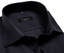 Eterna Comfort Fit Twill – luxusná antracitová košeľa s votkaným vzorom