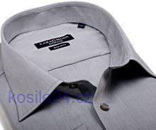 Casa Moda Comfort Fit Chambray – sivá košeľa - predĺžený rukáv