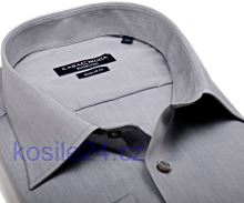 Casa Moda Modern Fit – šedá košile - prodloužený rukáv