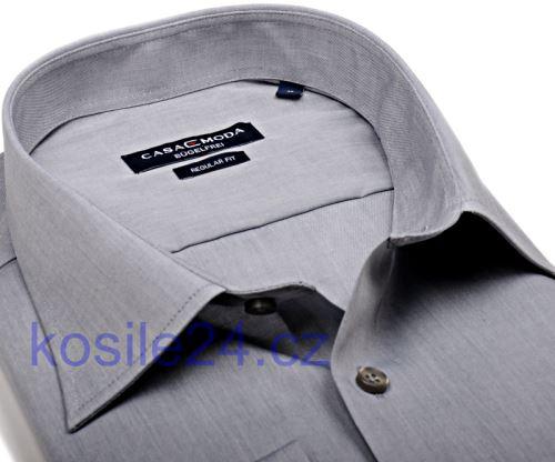 Casa Moda Comfort Fit Chambray – šedá - krátký rukáv