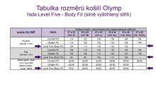 Olymp Level Five Rybia kosť – svetlomodrá košeľa s béžovo-modrým vzorom - predĺžený rukáv