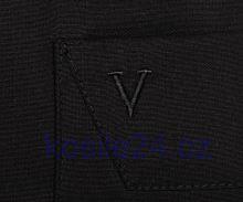 Marvelis Modern Fit Uni – čierna košeľa - krátky rukáv