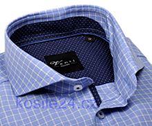Venti Slim Fit – svetlomodrá košeľa s bielym vzorom a vnútorným golierom, manžetou a légou