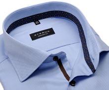 Eterna Comfort Fit - svetlomodrá košeľa s jemnou štruktúrou a vnútorným golierom - predĺžený rukáv