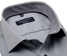 Casa Moda Modern Fit – světle šedá košile s černo-šedým vnitřním límcem a manžetou