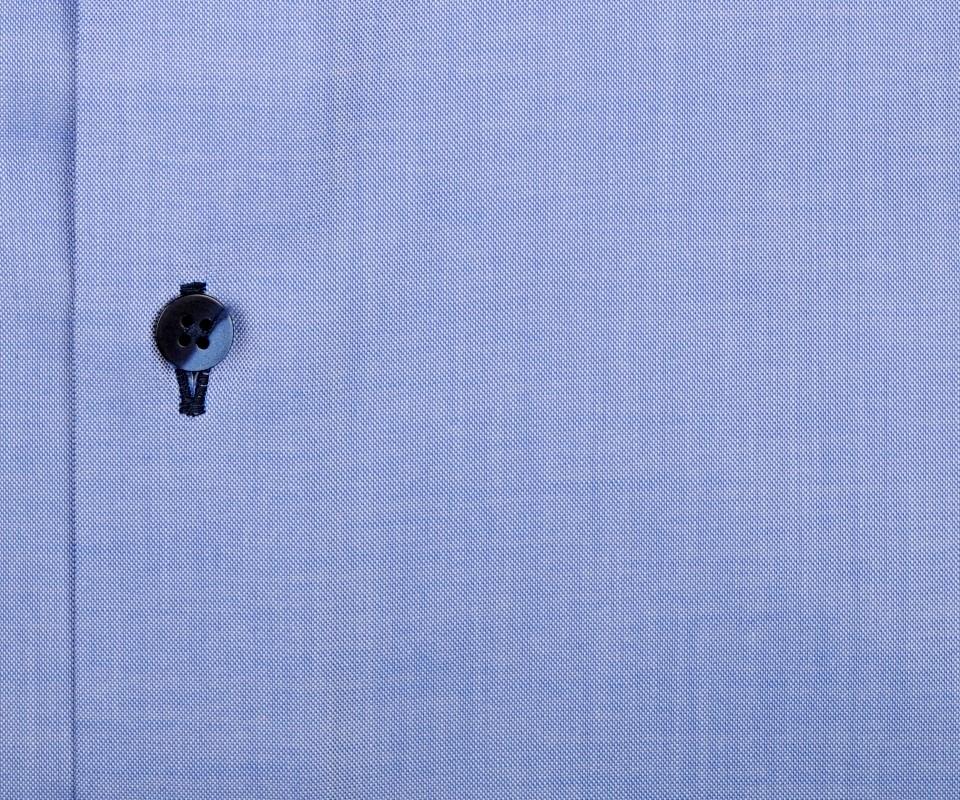 f09fb1c166a7 Eterna Modern Fit Fine Oxford – svetlomodrá košeľa s tmavomodrým vnútorným  golierom - krátky rukáv