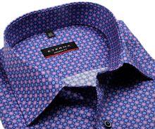 Eterna Modern Fit – košile s modro-růžovými kroužky - prodloužený rukáv