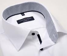 Casa Moda Comfort Fit – bílá košile s černo-šedým vnitřním límcem a manžetou