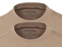Béžové tričko Casa Moda – okrúhly výstrih - výhodné balenie 2 ks