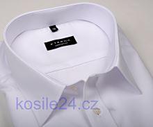 Eterna Comfort Fit Chambray - bílá košile s dvojitou manžetou