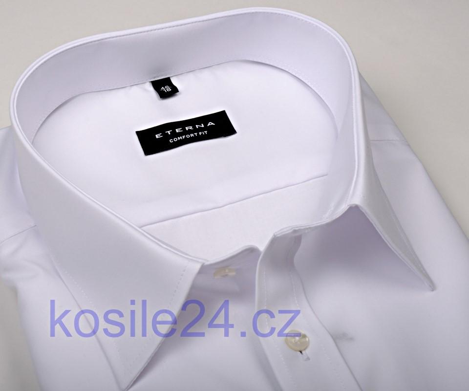c6f4ec82e307 Eterna Comfort Fit Chambray - biela košeľa s dvojitou manžetou