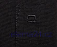 Olymp Luxor Comfort Fit - čierna košeľa - krátky rukáv