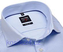 Olymp Level Five Diamant Twill – luxusní košile s diagonální strukturou a světle modrým proužkem