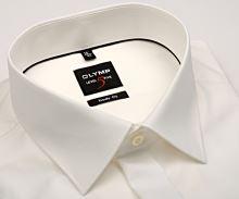 Olymp Level Five - champagne gala košeľa s dvojitou manžetou a skrytou légou