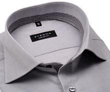 Eterna Comfort Fit – sivá košeľa s vnútorným golierom a manžetou