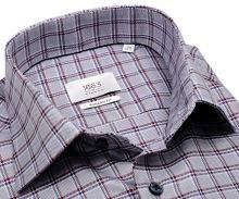 Eterna Modern Fit 1863 Two Ply – luxusná košeľa s kockou v trikolóre