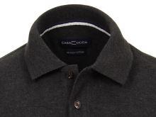 Polo tričko Casa Moda – čierno-sivé tričko s golierkom