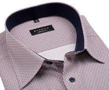 Eterna Comfort Fit – košile s červeno-modrým vzorem a vnitřním límcem - prodloužený rukáv