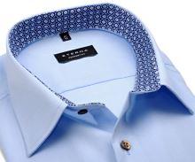 Eterna Comfort Fit Chambray – svetlomodrá košeľa s vnútorným golierom - predĺžený rukáv