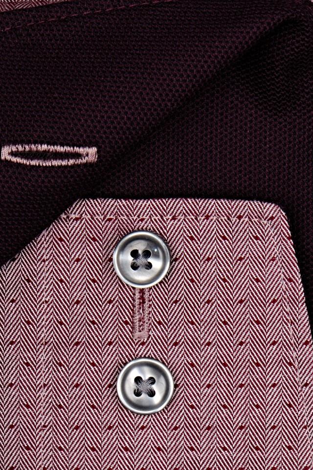 bdcaa4a60290 Olymp Modern Fit Luxor – vínovo červená košeľa s vnútorným golierom