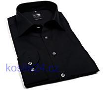 Olymp Level Five – černá košile – prodloužený rukáv
