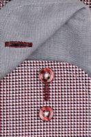 Casa Moda Comfort Fit Premium – luxusná košeľa s červeným vzorom a vnútorným golierom - extra predĺžený rukáv