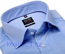 Olymp Level Five Diamant Twill – luxusní světle modrá košile s jemnou strukturou