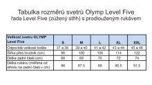 Sveter Olymp Level Five z merino vlny a s prímesou hodvábu - antracitový - V-výstrih