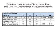 Sveter Olymp Level Five z merino vlny s prímesou hodvábu – tmavomodrý - V-výstrih