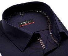 Eterna Modern Fit Fine Oxford – modro-fialová košile s jemnou strukturou a vnitřní légou