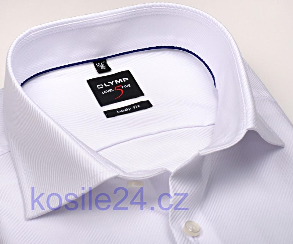 e546a3a6dd21 Olymp Level Five Diamant Twill – luxusní bílá košile s diagonální strukturou