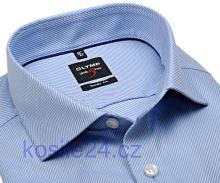 Olymp Level Five Diamant Twill – luxusná svetlomodrá košeľa s diagonálnou štruktúrou - predĺžený rukáv