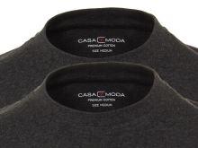 Šedo-černé tričko Casa Moda – kulatý výstřih - výhodné balení 2 ks