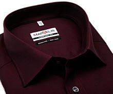 Marvelis Comfort Fit Chambray – vínově červená košile
