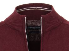 Bavlnený rozopínajúci pulóver Casa Moda – bordó