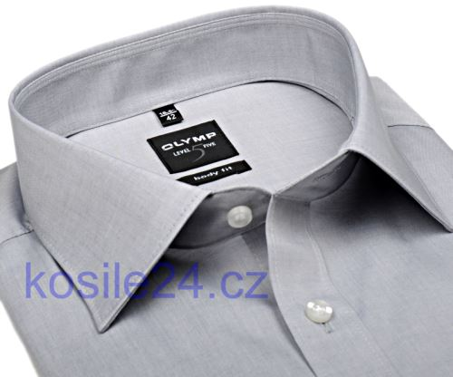 Olymp Level Five Chambray – svetlosivá košeľa