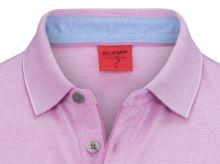 Polo tričko Olymp Level Five - růžovo-fialové body fit tričko s límečkem a bílým rastrováním