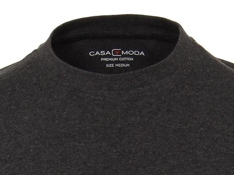 188b237c1bc4 Sivo-čierne pánské tričko Casa Moda s krátkým rukávem