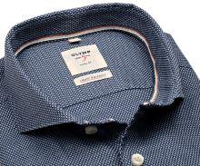 Olymp Level Five Smart Business – košeľa s modrým votkaným vzorom