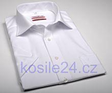 Marvelis Modern Fit Uni - biela košeľa - krátky rukáv