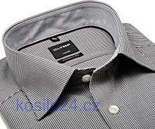 Olymp Luxor Modern Fit – košile s černým minikárem s vnitřním límcem - krátký rukáv