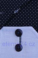 Eterna Comfort Fit Fine Oxford – světle modrá košile s tmavě modrým vnitřním límcem, manžetou a légou