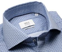 Eterna 1863 Slim Fit Two Ply - luxusná košeľa s modrým vzorom