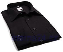 Olymp Luxor Comfort Fit Uni Popeline - černá košile