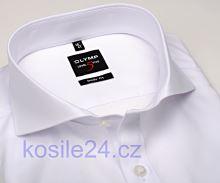 Olymp Level Five – biela košeľa s dvojitou manžetou - predĺžený rukáv