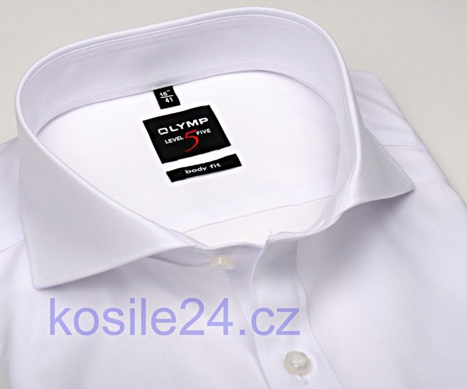 Olymp Level Five – bílá košile s dvojitou manžetou - prodloužený rukáv ae324b1249