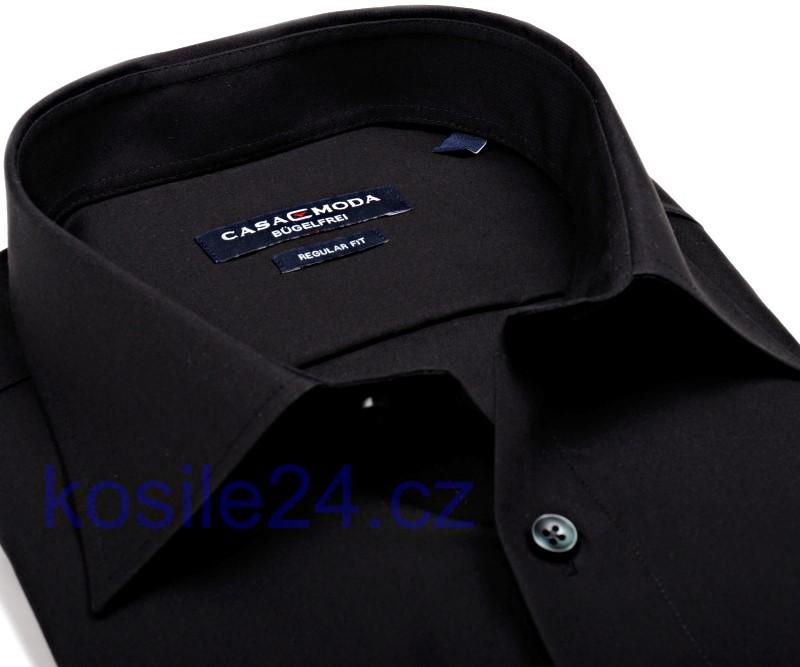 be3e5fdd1f9 Casa Moda Comfort Fit – černá košile - extra prodloužený rukáv