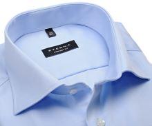 Eterna Comfort Fit Twill Cover - luxusná svetlomodrá nepriehľadná košeľa
