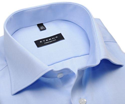 Eterna Comfort Fit - Uni Popeline - světle modrá - krátký rukáv